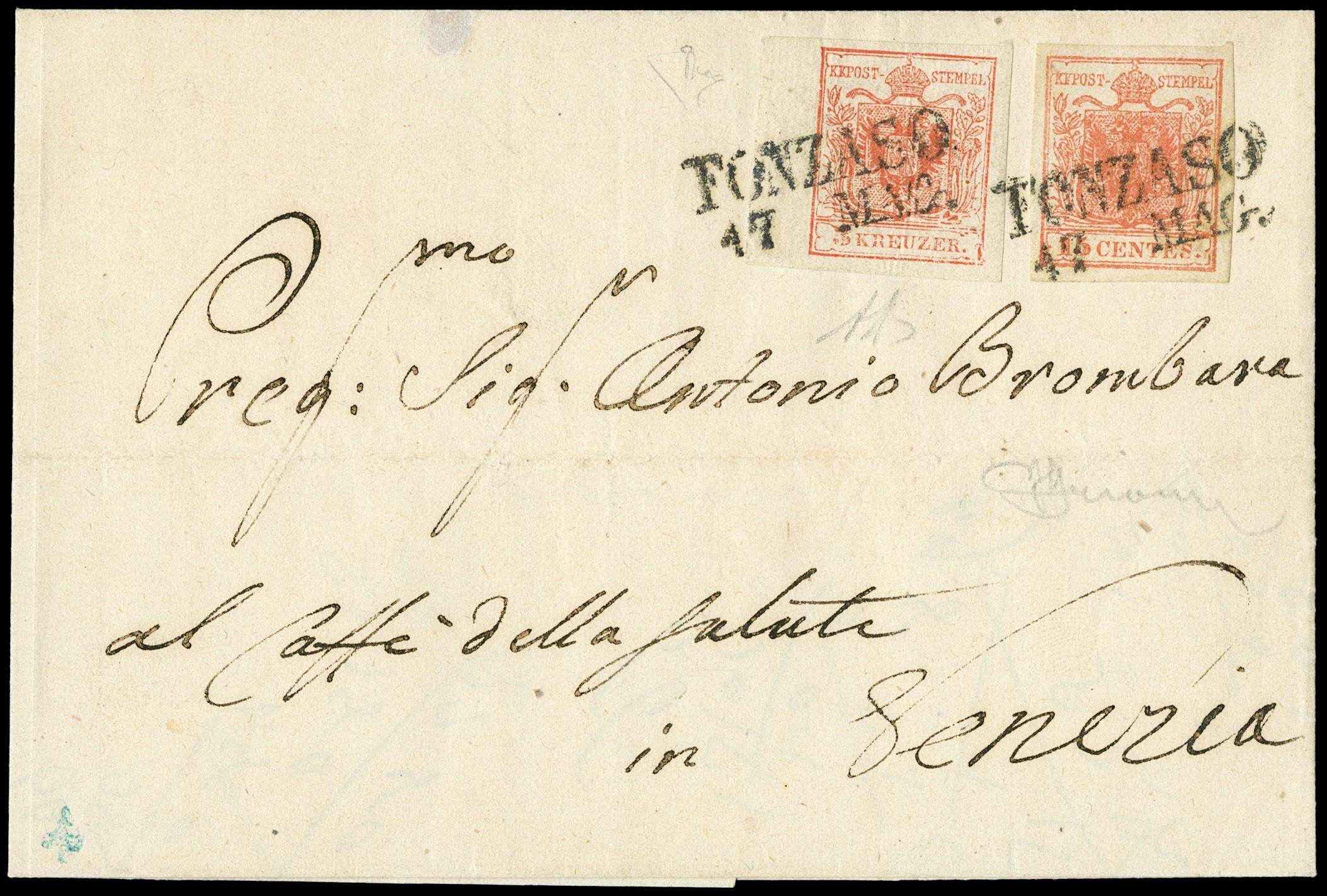 Lot 15 - lombardo veneto posta ordinaria -  Zanaria Aste s.r.l. 9th Philatelic Auction