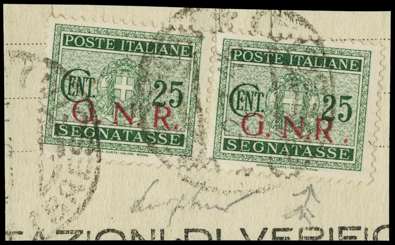 Lot 1244 - ITALIA RSI SEGNATASSE -  Zanaria Aste s.r.l. 9th Philatelic Auction