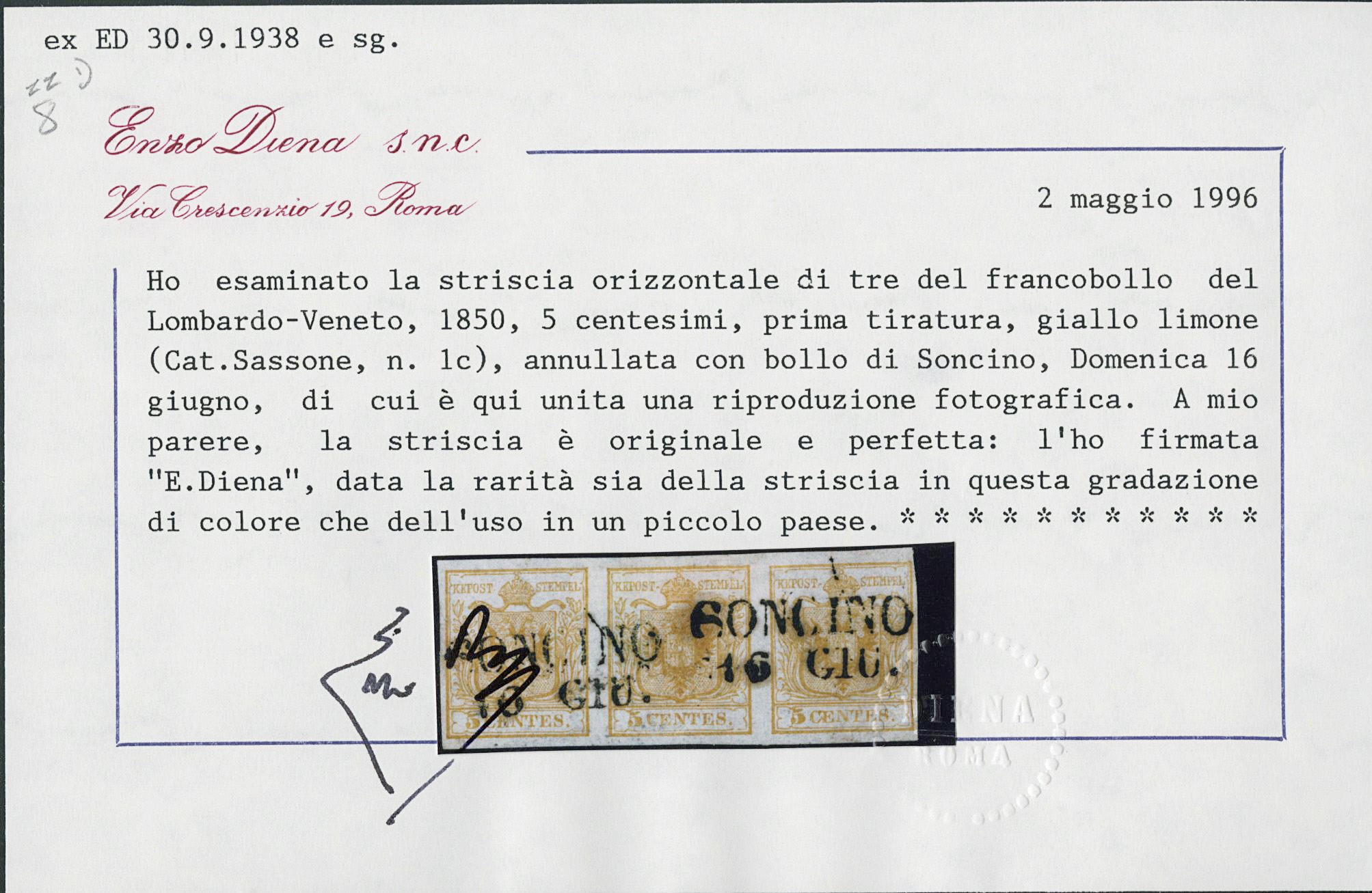Lot 4 - lombardo veneto posta ordinaria -  Zanaria Aste s.r.l. 9th Philatelic Auction