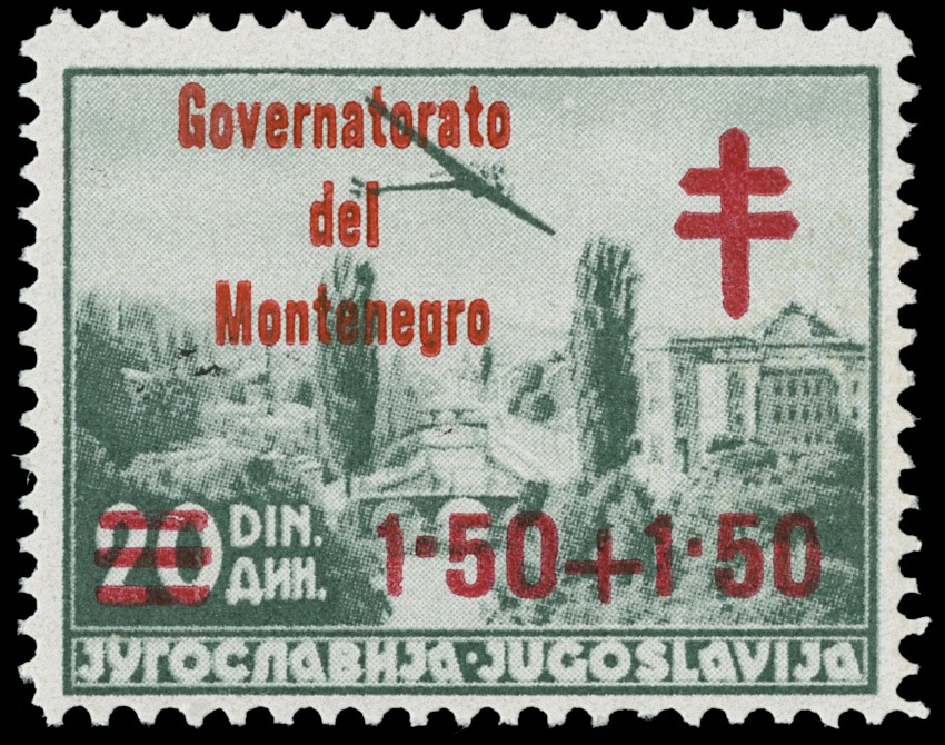 Lot 1315 - OCC ITALIANE - Montenegro posta ordinaria -  Zanaria Aste s.r.l. 9th Philatelic Auction