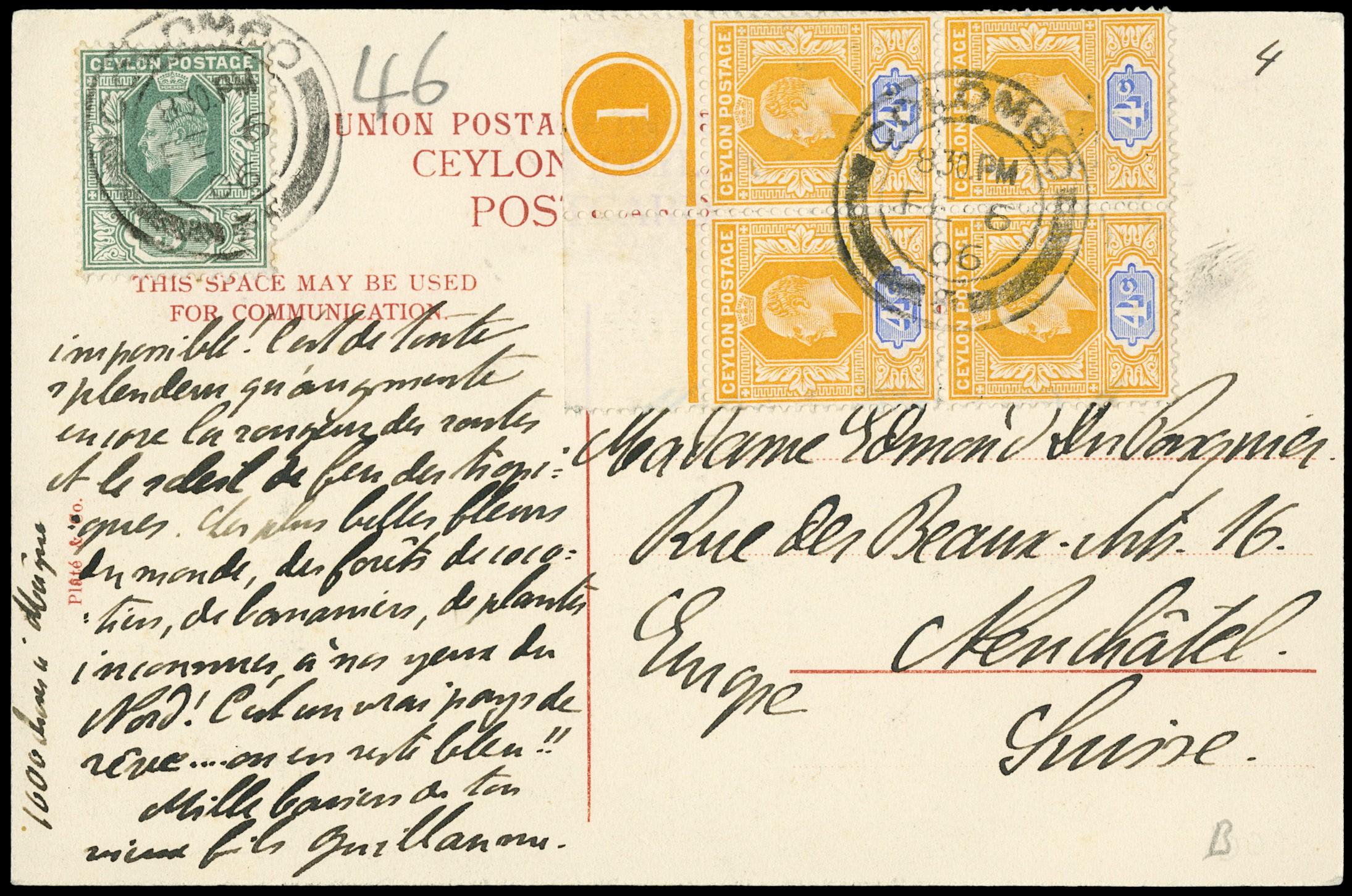 Lot 3030 - Ceylon posta ordinaria -  Zanaria Aste s.r.l. 9th Philatelic Auction