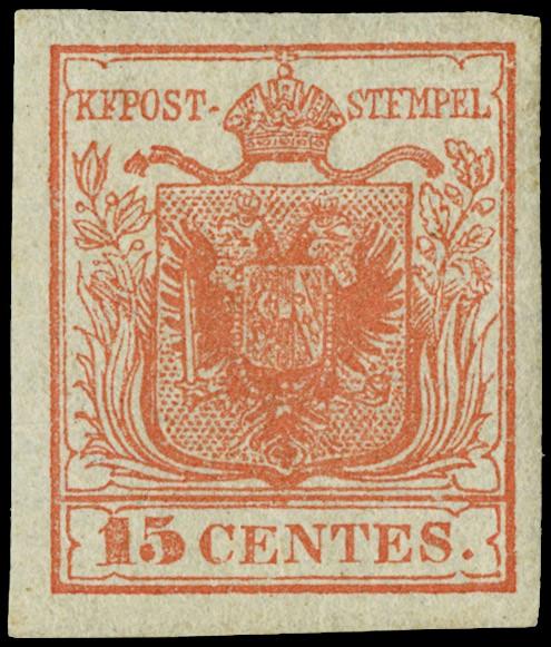 Lot 14 - lombardo veneto posta ordinaria -  Zanaria Aste s.r.l. 9th Philatelic Auction