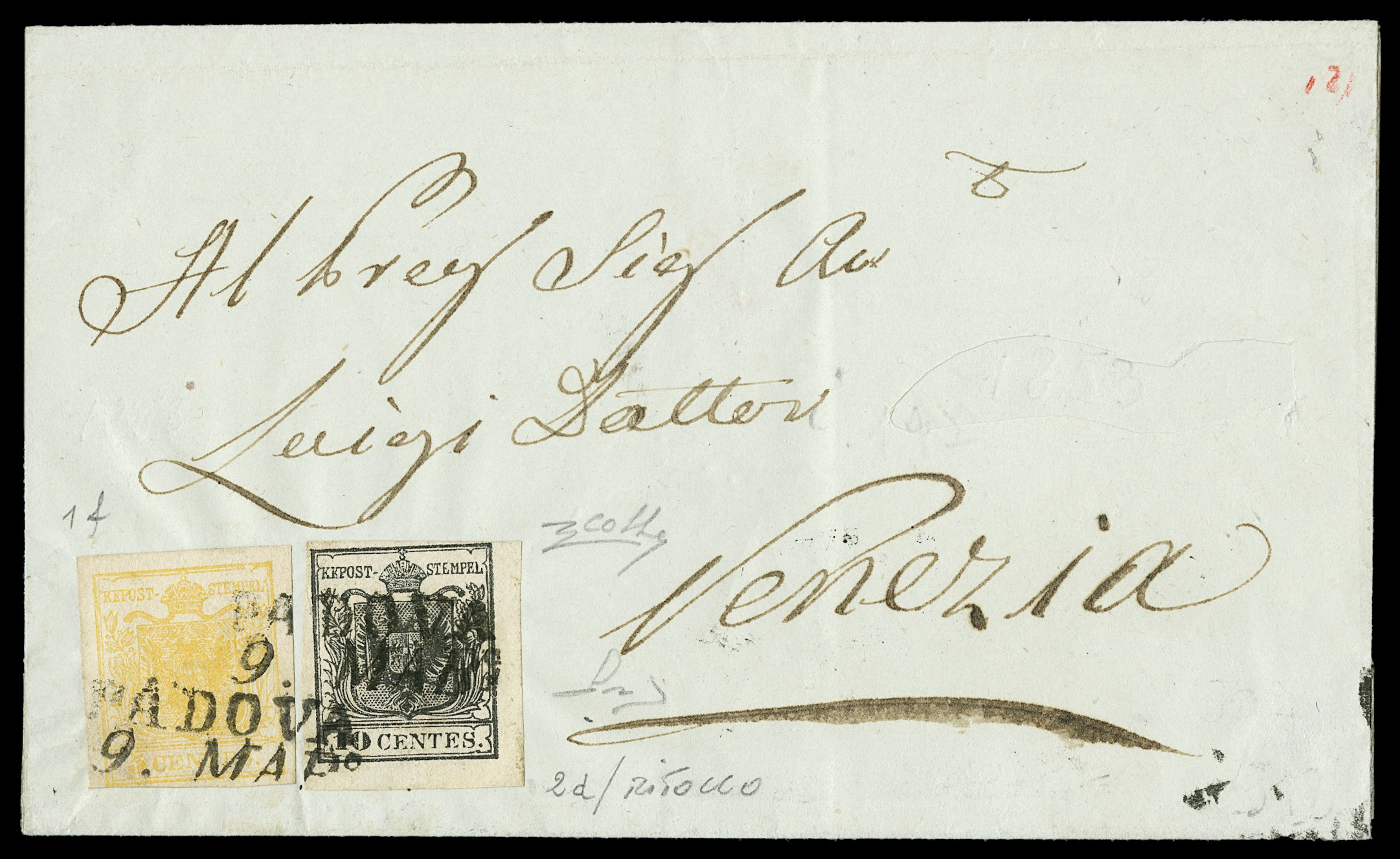 Lot 12 - lombardo veneto posta ordinaria -  Zanaria Aste s.r.l. 9th Philatelic Auction