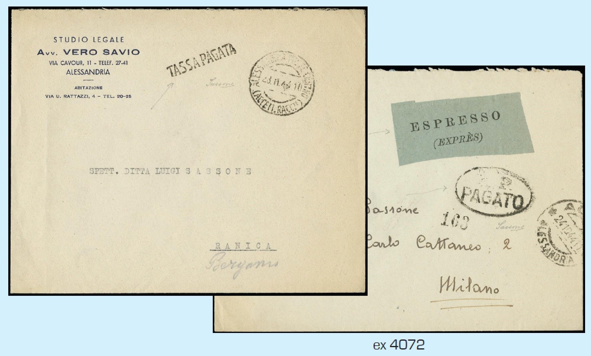 Lot 4072 - ITALIA RSI lotti e collezioni -  Zanaria Aste s.r.l. 9th Philatelic Auction
