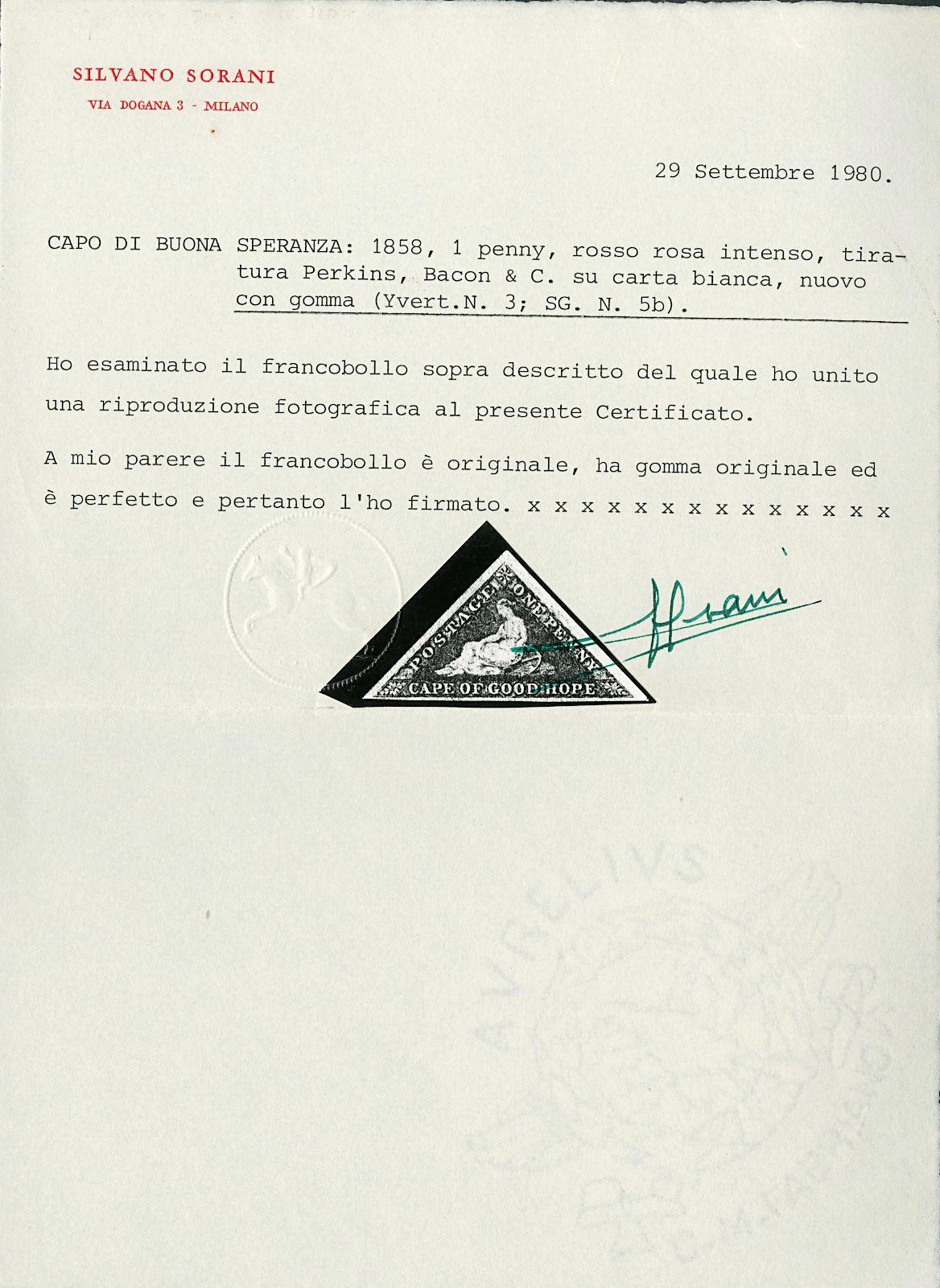 Lot 3029 - CAPO DI BUONA SPERANZA posta ordinaria -  Zanaria Aste s.r.l. 9th Philatelic Auction