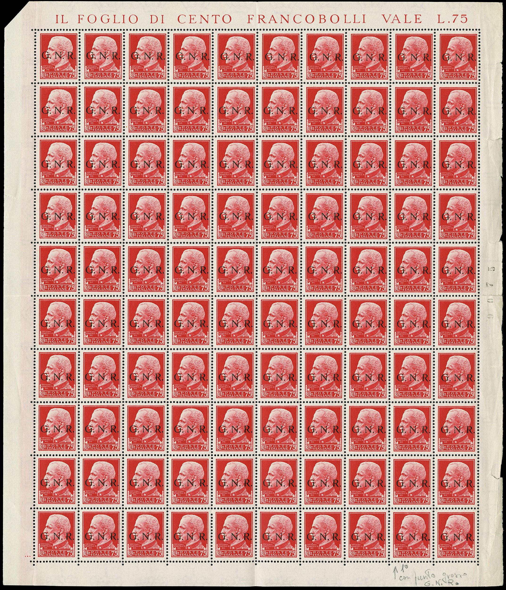 Lot 4066 - ITALIA RSI lotti e collezioni -  Zanaria Aste s.r.l. 9th Philatelic Auction