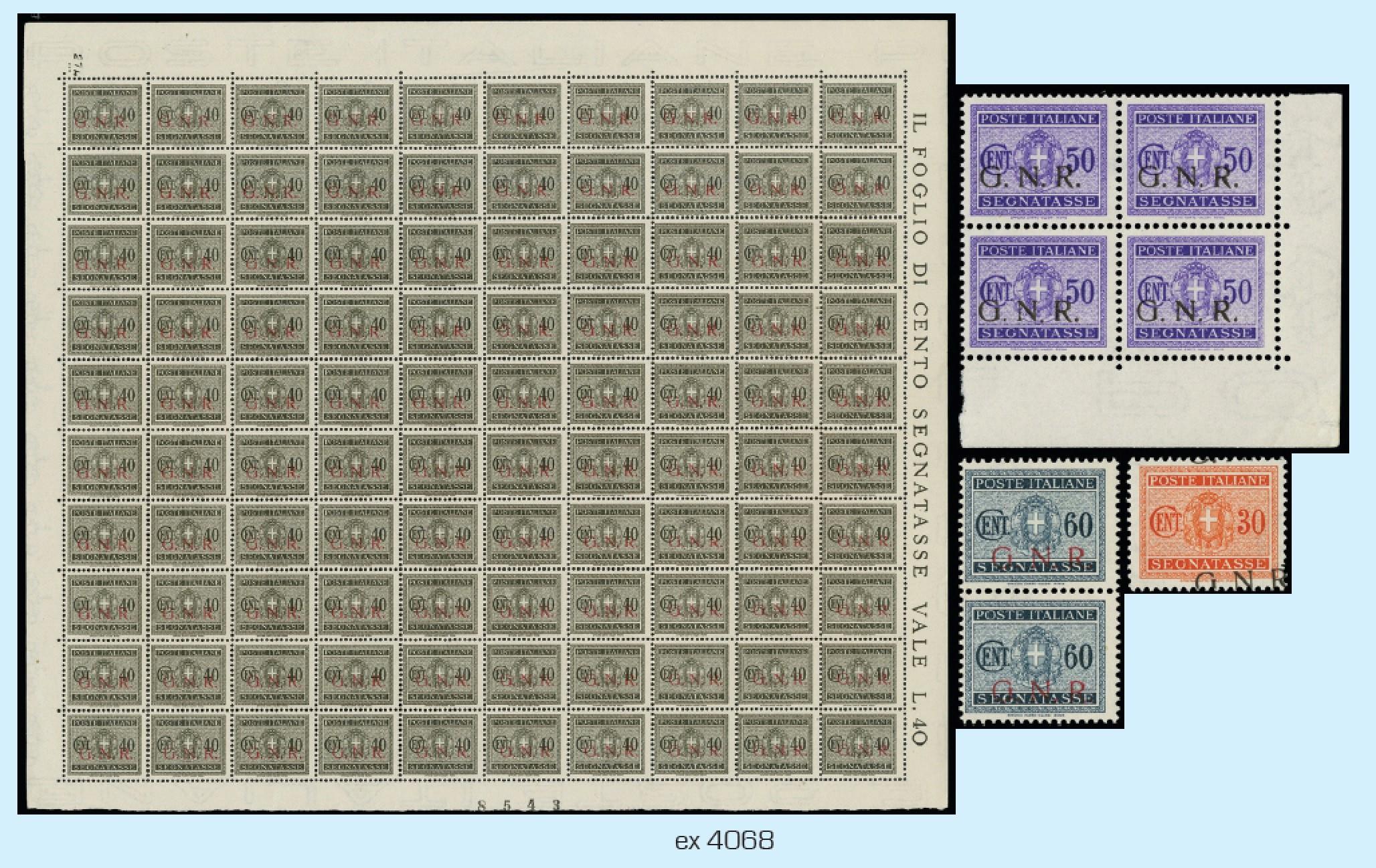 Lot 4068 - ITALIA RSI lotti e collezioni -  Zanaria Aste s.r.l. 9th Philatelic Auction