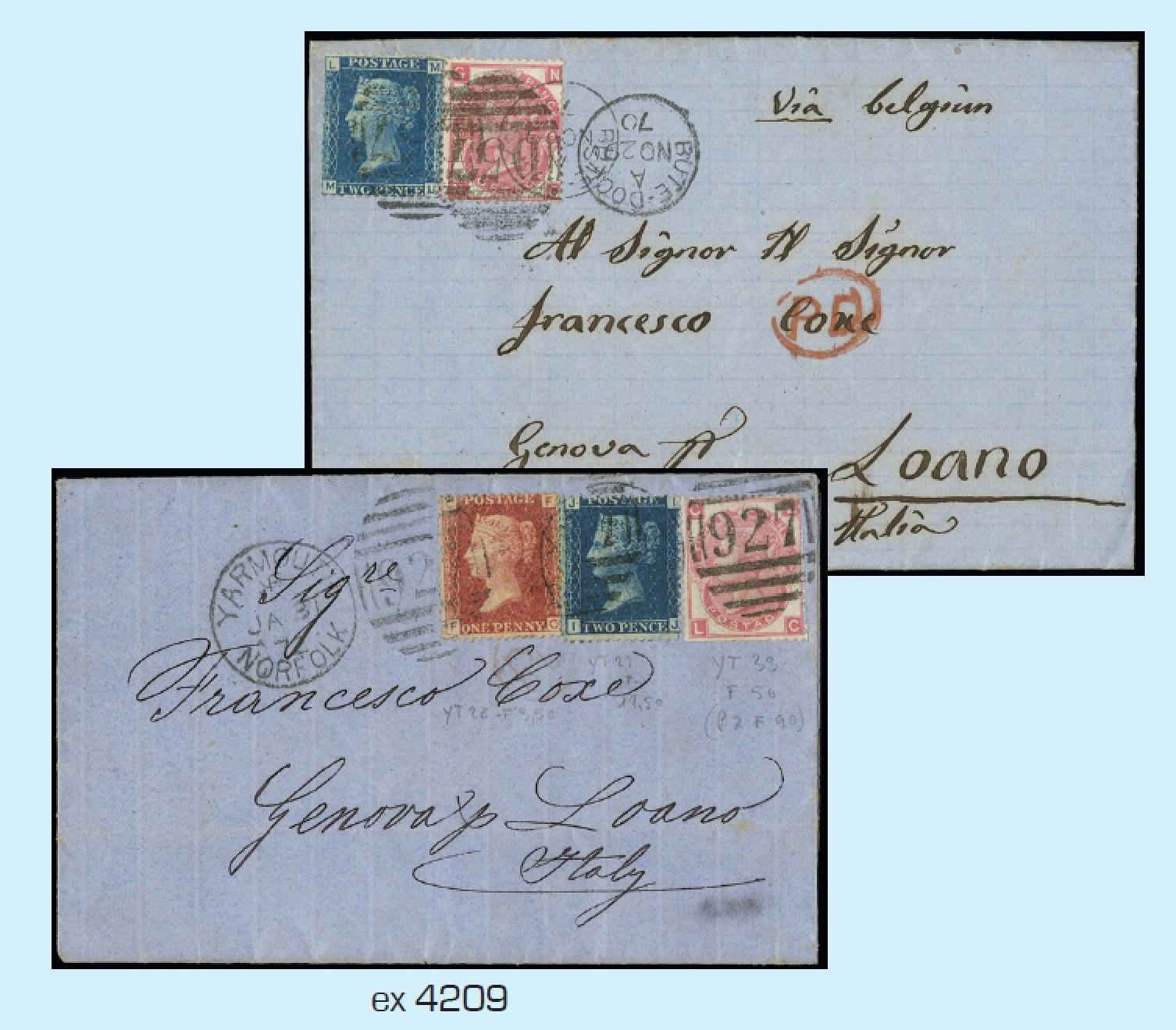 Lot 4209 - gran bretagna lotti e collezioni -  Zanaria Aste s.r.l. 9th Philatelic Auction