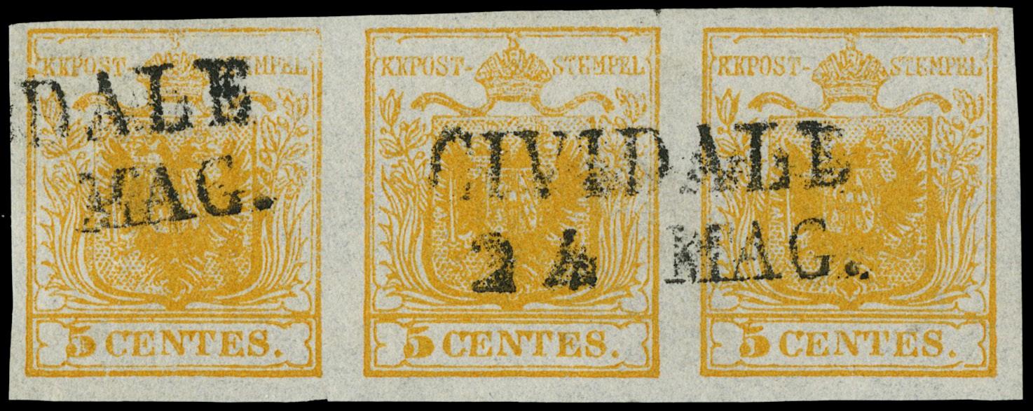 Lot 7 - lombardo veneto posta ordinaria -  Zanaria Aste s.r.l. 9th Philatelic Auction