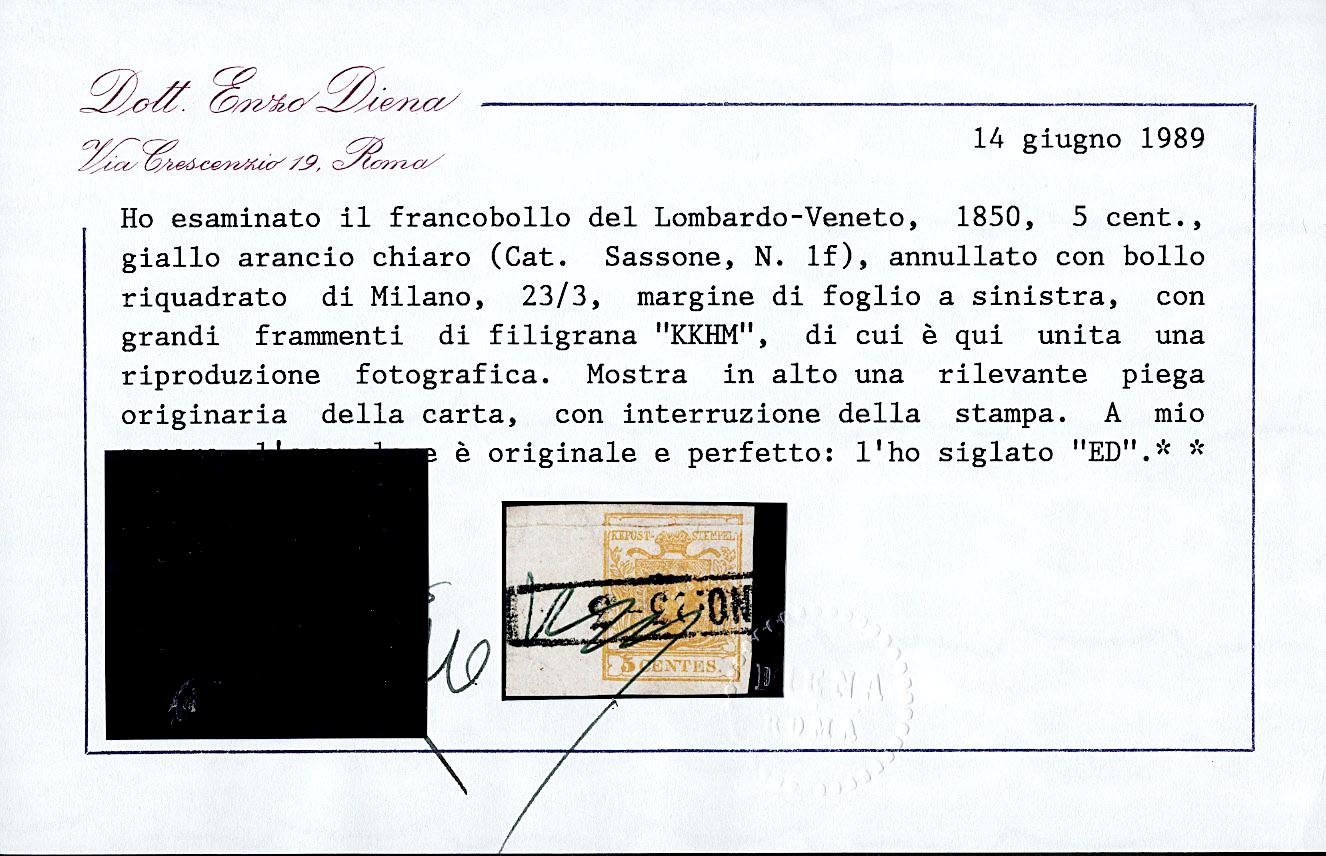 Lot 6 - lombardo veneto posta ordinaria -  Zanaria Aste s.r.l. 9th Philatelic Auction