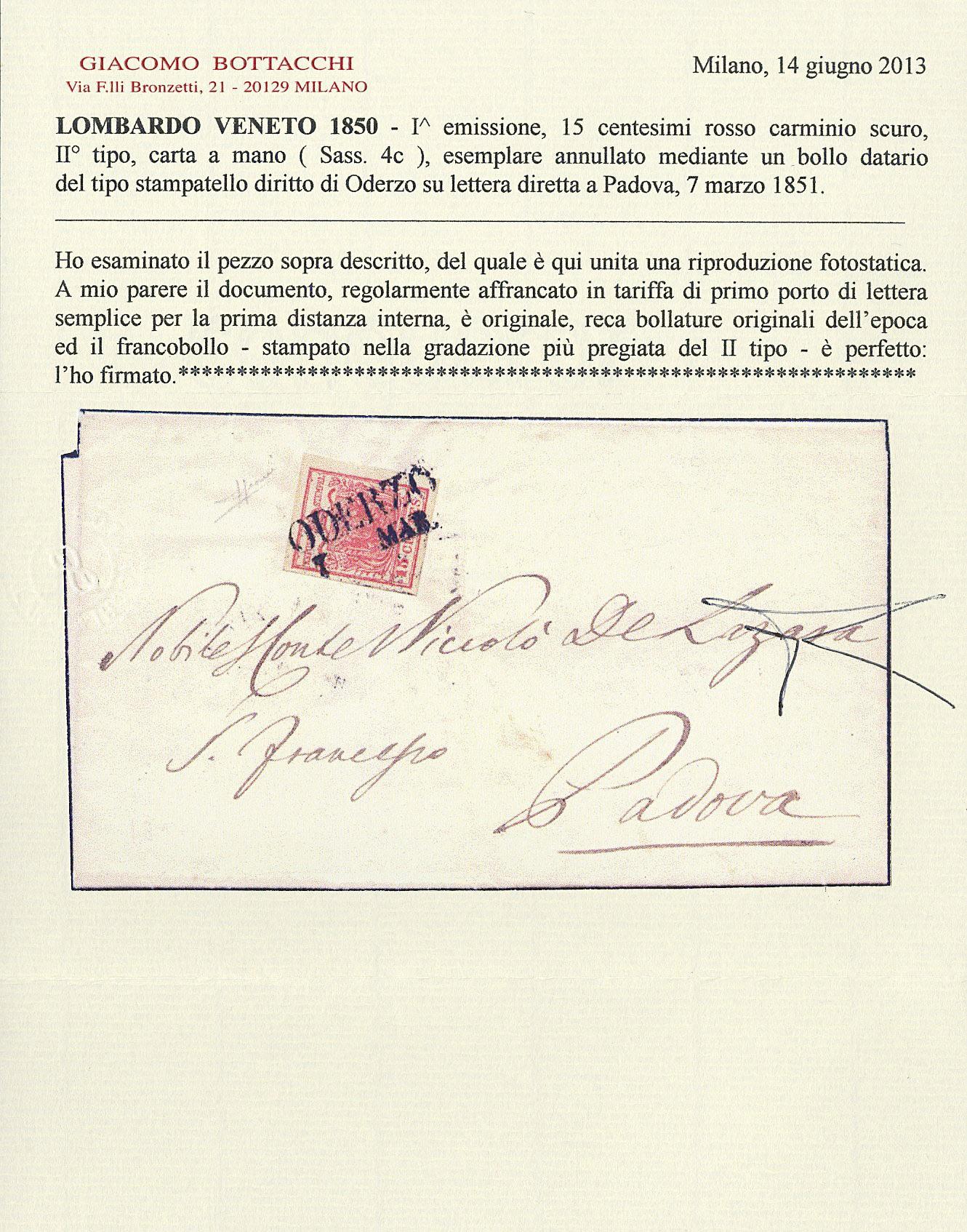 Lot 16 - lombardo veneto posta ordinaria -  Zanaria Aste s.r.l. 9th Philatelic Auction