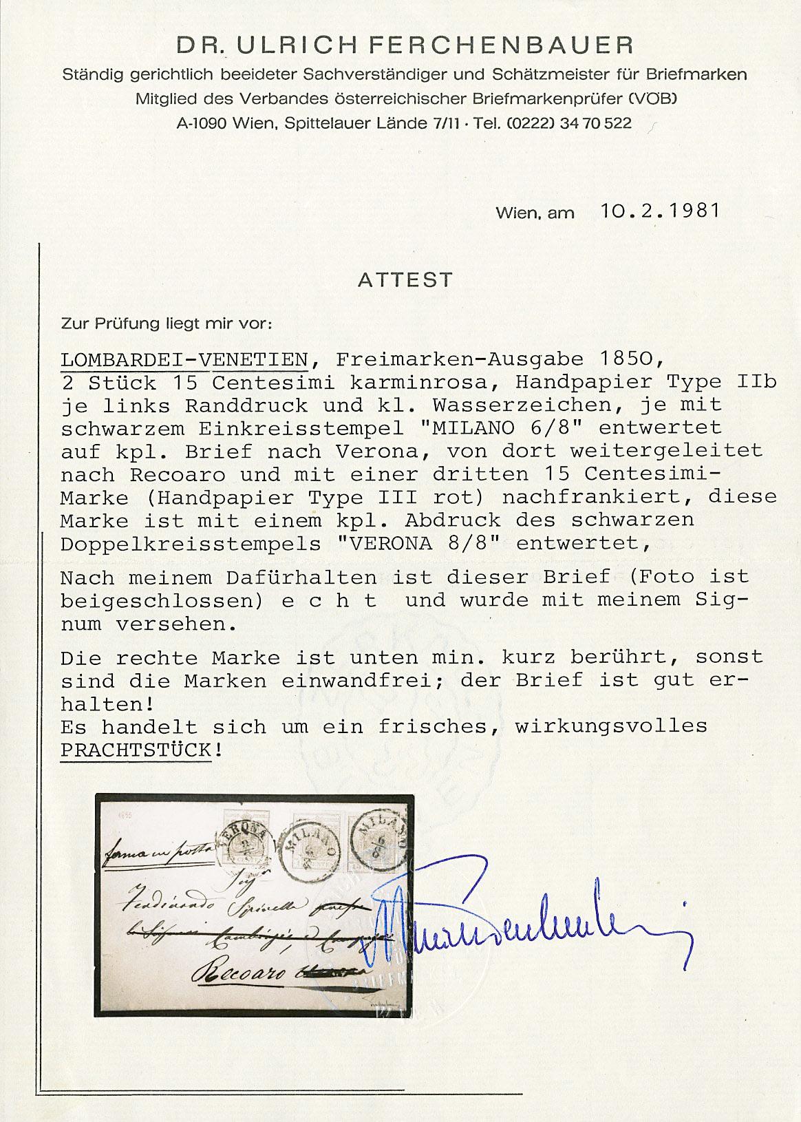 Lot 17 - lombardo veneto posta ordinaria -  Zanaria Aste s.r.l. 9th Philatelic Auction