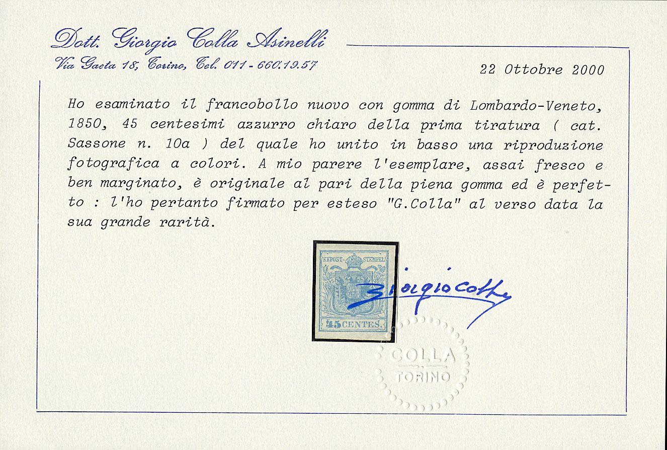 Lot 22 - lombardo veneto posta ordinaria -  Zanaria Aste s.r.l. 9th Philatelic Auction